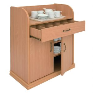 Deluxe Dumbwaiter With Doors Beech