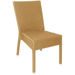 Bolero Wicker Side Chairs Natural (Pack of 4)