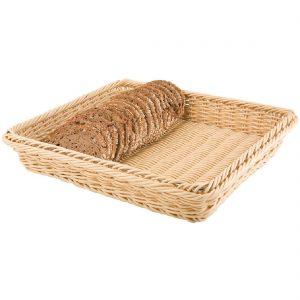 Polypropylene Natural Rattan Basket 1/2 GN