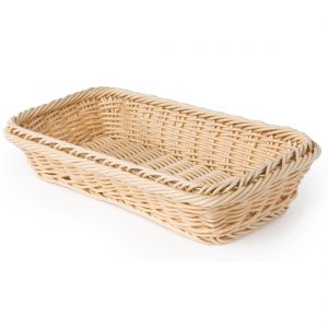 Polypropylene Natural Rattan Basket 1/3 GN