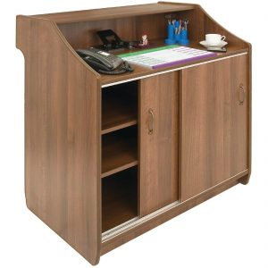 Deluxe Reception Counter 1500mm Walnut
