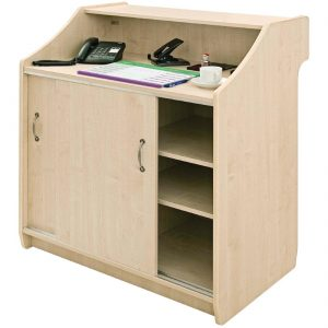 Deluxe Reception Counter 1000mm Maple