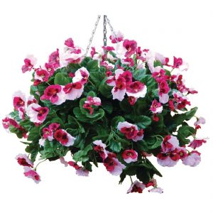 "22"" Plain Light Pink Pansy Ball"