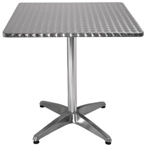 Bolero Square Bistro Table Stainless Steel 700mm