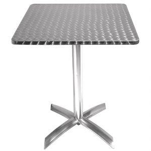 Bolero Square Flip-Top Table Stainless Steel 600mm