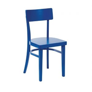Bolero Wooden Sidechairs Blue (Pack of 2)