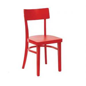 Bolero Wooden Sidechairs Red (Pack of 2)
