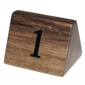Olympia Acacia Table Number Signs Numbers 1-10