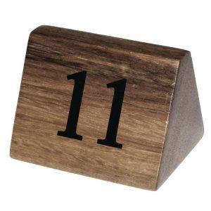 Olympia Acacia Table Number Signs Numbers 11-20
