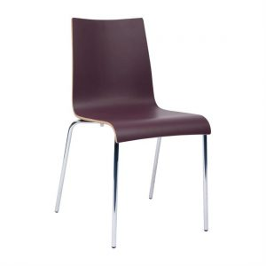 Bolero Plyform Stacking Sidechair Burgundy (Pack of 4)