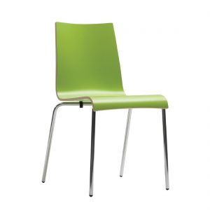 Bolero Plyform Stacking Sidechair Lime Green (Pack of 4)