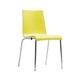 Bolero Plyform Stacking Sidechair Yellow (Pack of 4)