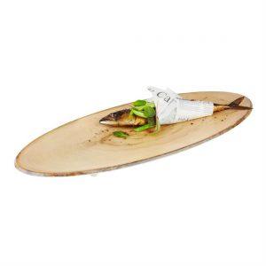 APS Timber Oval Melamine Platter 650 x 260mm