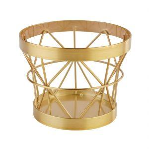 APS Plus Metal Basket Gold Brushed 80 x 105mm
