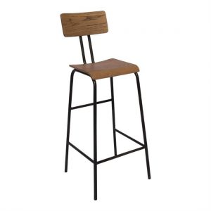 Bolero Industrial Metal Highstool (Pack of 2)