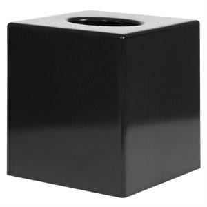 Black Cube Tissue Holder