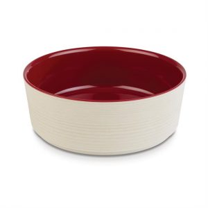 APS Plus Melamine Round Bowl Maple and Red 1.5 Ltr
