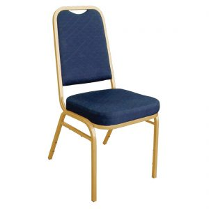 Bolero Squared Back Banquet Chair Blue (Pack of 4)