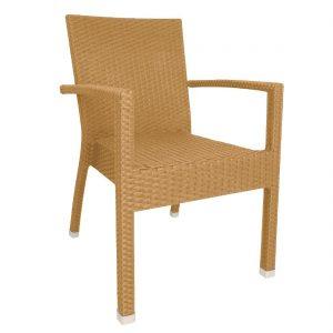 Bolero Wicker Armchairs Natural (Pack of 4)