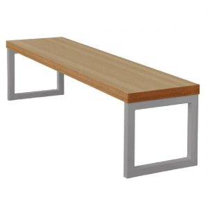 Bolero Dining Bench Beech Effect with Silver Frame 3ft