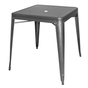 Bolero Steel Bistro Table Gun Metal Grey 660mm