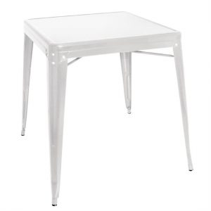 Bolero Steel Bistro Table White 660mm