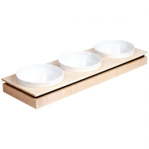 APS Frames Maple Wood Rectangular Large Bowl Base