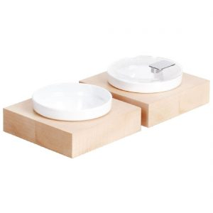 APS Frames Maple Wood Small Square Buffet Bowl Box