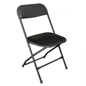 Bolero Folding Chair Black (Pack of 10)