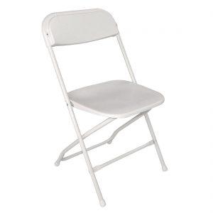 Bolero Folding Chair White (Pack of 10)