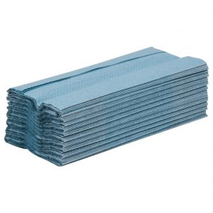 Jantex C Fold Hand Towels Blue 1Ply 190 Sheets (Pack of 15)