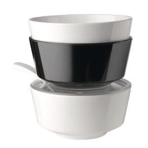 APS Float Black Round Bowl 8in