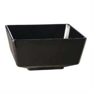 APS Float Black Square Bowl 10in
