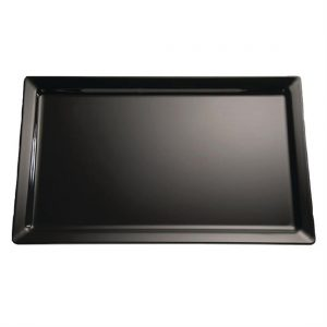 APS Pure Black Melamine Tray GN 1/1