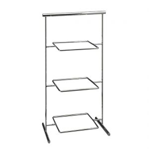 APS Pure Melamine Chrome Serving Stand 330mm