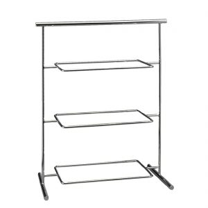 APS Pure Melamine Chrome Serving Stand 370mm