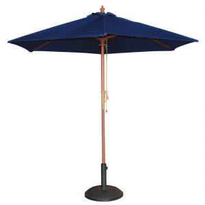 Bolero Round Outdoor Umbrella 2.5m Diameter Navy Blue
