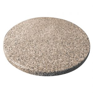 Bolero Pre-drilled Round Granite Table Top 600mm