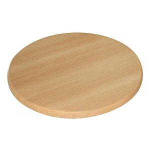 Bolero Pre-drilled Round Table Top Beech 600mm
