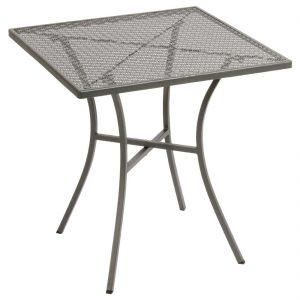 Bolero Grey Steel Patterned Square Bistro Table 700mm