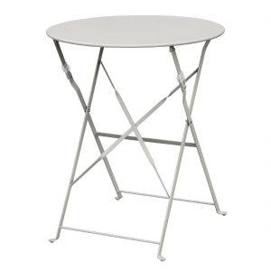 Bolero Grey Pavement Style Steel Table 595mm