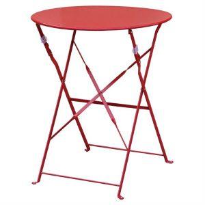 Bolero Red Pavement Style Steel Table 595mm