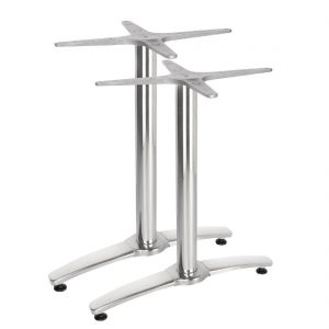Bolero Aluminium Twin Leg Table Base (Pack of 2)