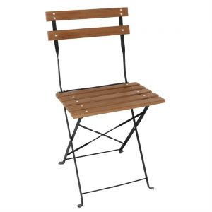 Bolero Faux Wood Bistro Folding Chairs (Pack of 2)