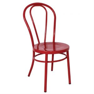 Bolero Steel Bentwood Style Red Side Chairs (Pack of 2)