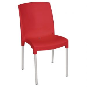 Bolero Stacking Bistro Side Chairs Red (Pack of 4)