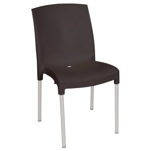 Bolero Stacking Bistro Side Chairs Black (Pack of 4)