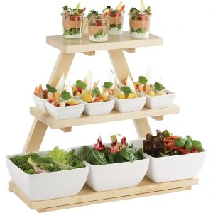 APS Triangle Wooden Buffet Stand Maple