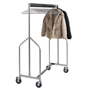 Heavy Duty Z Garment Rail With 25 Anti Theft Hangers