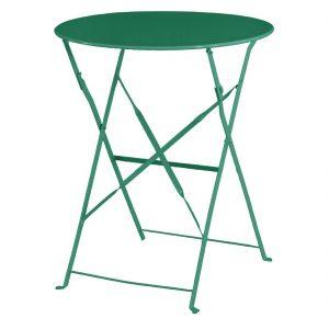 Bolero Garden Green Pavement Style Steel Table 595mm
